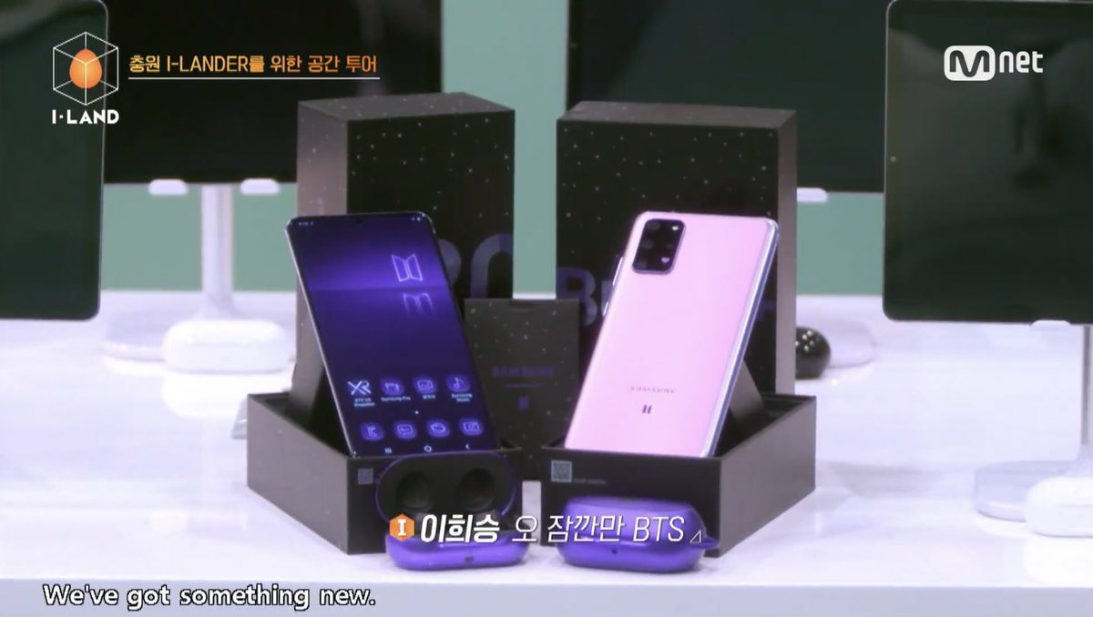 BTS X SAMSUNG phone and Galaxy Buds made an appearance ON I-LAND  <br>http://pic.twitter.com/1TNpZ7Upnh