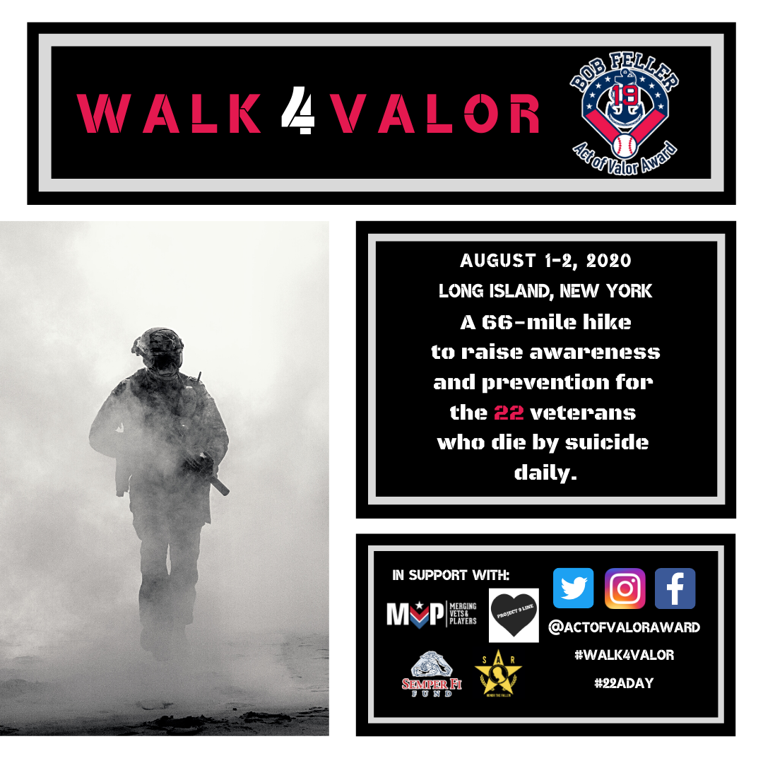 Please join us for the #Walk4Valor on Saturday, August 1 to Sunday, August 2 as Marine Corps Major Chad Lennon hikes 66 miles to bring awareness to the Veteran Suicide Epidemic.  Please contact us if you would like to participate, sponsor, or donate to the cause. https://t.co/uCPYIuZkG7