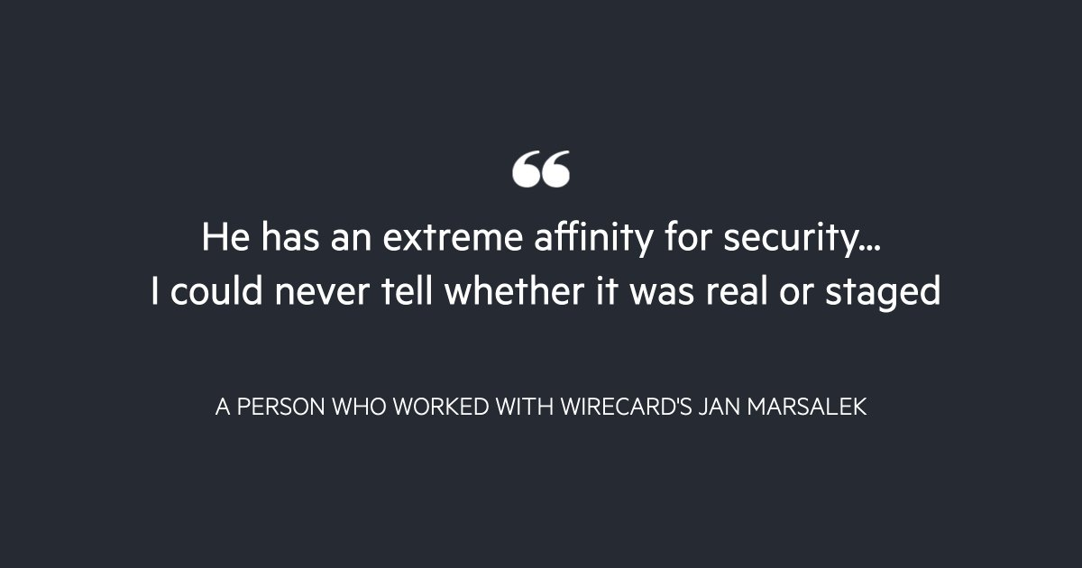 Jan Marsalek is regarded as one of the key suspects in a vast fraud that inflated Wirecard's profits, but from wanting to recruit a Libyan militia to having the formula for novichok in his possession, his interests went far beyond unorthodox accounting https://t.co/pYMpZp5GKM https://t.co/6Spv2Qq0YB