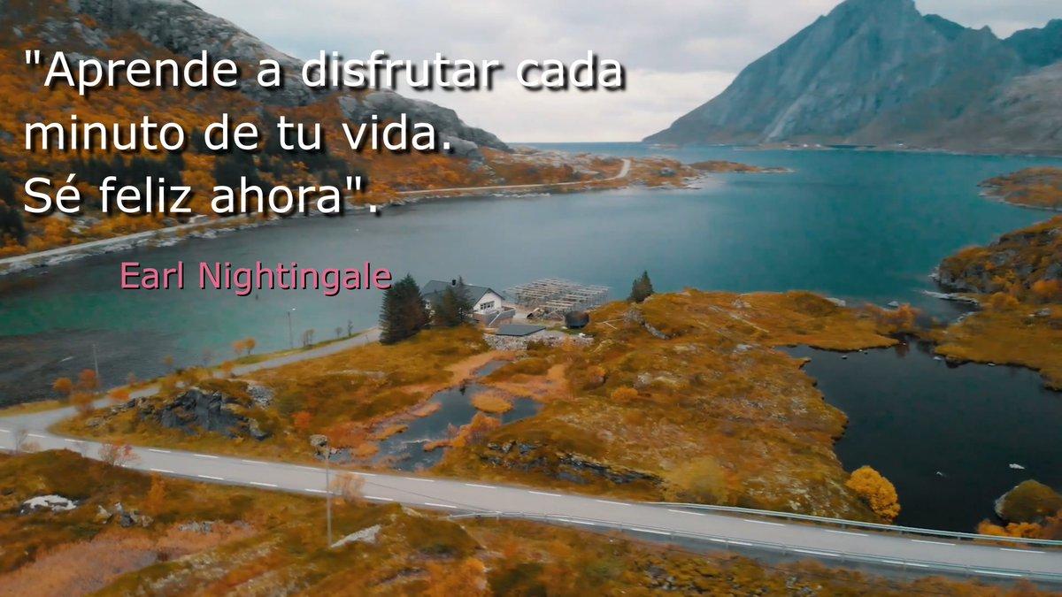 """""""Aprende a disfrutar cada minuto de tu vida. Sé feliz ahora"""" #siguetussueños, #sueños,#vida, #amor, #norendirse, #seguirluchandocadadia, #luchar,  #adaptacion, #fuerzas, #seguiradelante, #dedicacion, #transformacion, #Buenosdias, #BuenViernes  #felizdia, #10Jul, #10Julio https://t.co/of0UEZjBiR"""