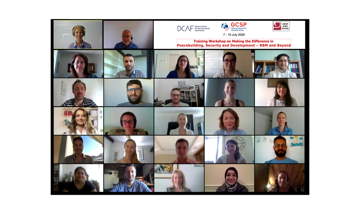 "Congrats to the new graduates of our fully virtual ""Making the Difference in Peacebuilding, Security and Development - Results Based Management and Beyond"" Course in partnership with @SmallArmsSurvey + @DCAF_Geneva!  More on #peacebuilding #peaceops here: https://t.co/uvlhKQUY7R https://t.co/5KvRkeXrAL"