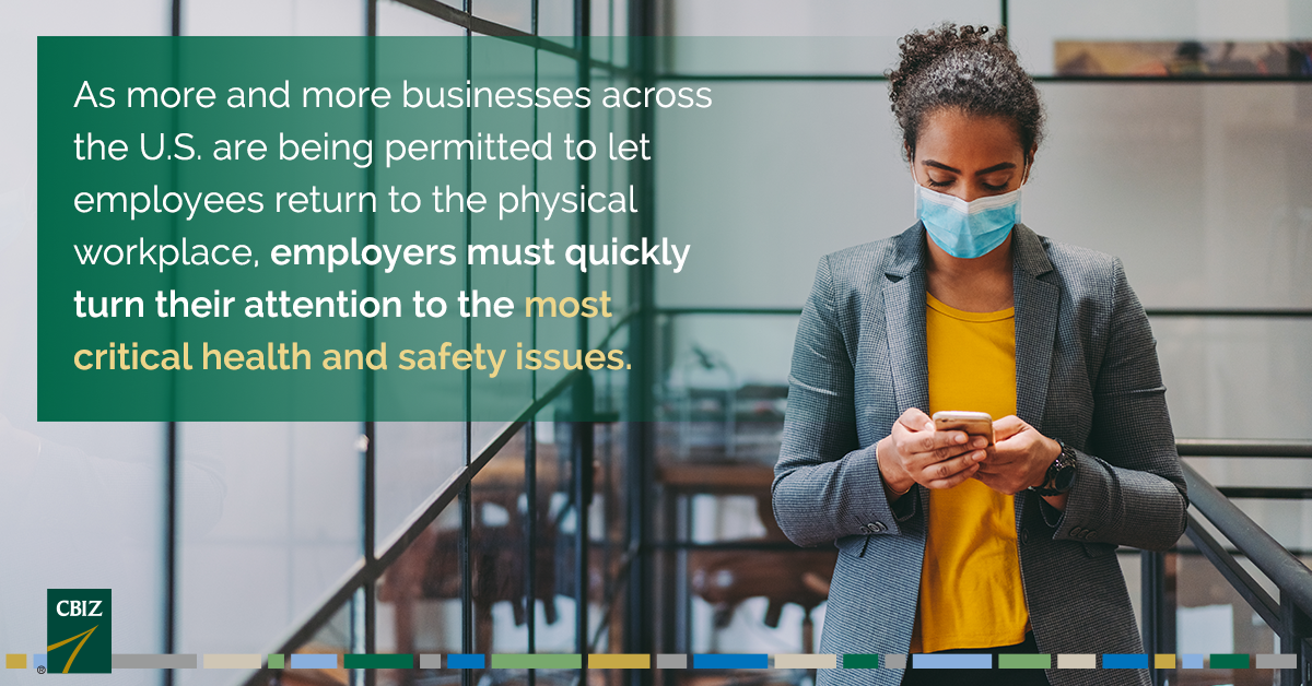 Getting Back to the Workplace: Health & Safety Issues Employers Must Address https://t.co/3s6N4xZLy0 https://t.co/akehVkJXoh