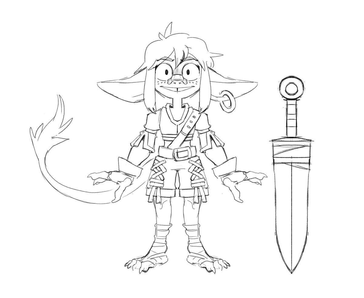 Thinking about making a goblin mascot for my «Planet Coaster» theme park If so, i'll draw her as an aztec adventurer, a fantasy (normal) and a spooky one