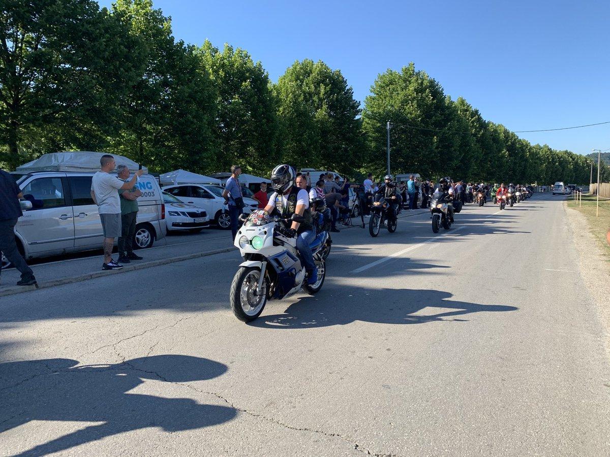 U Potočare stigli sudionici moto maratona iz Bihaća. @N1infoSA https://t.co/hJM10CqgM5