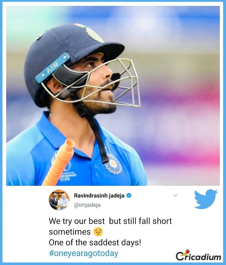 We know the feeling  #ravindrajadeja #teamindia #indiancricketteam #indvnz #nzvind #cwc19 #jadeja #CricketWorldCup  (: Ravindra Jadeja/ Twitter)<br>http://pic.twitter.com/aXcZSLsWo0