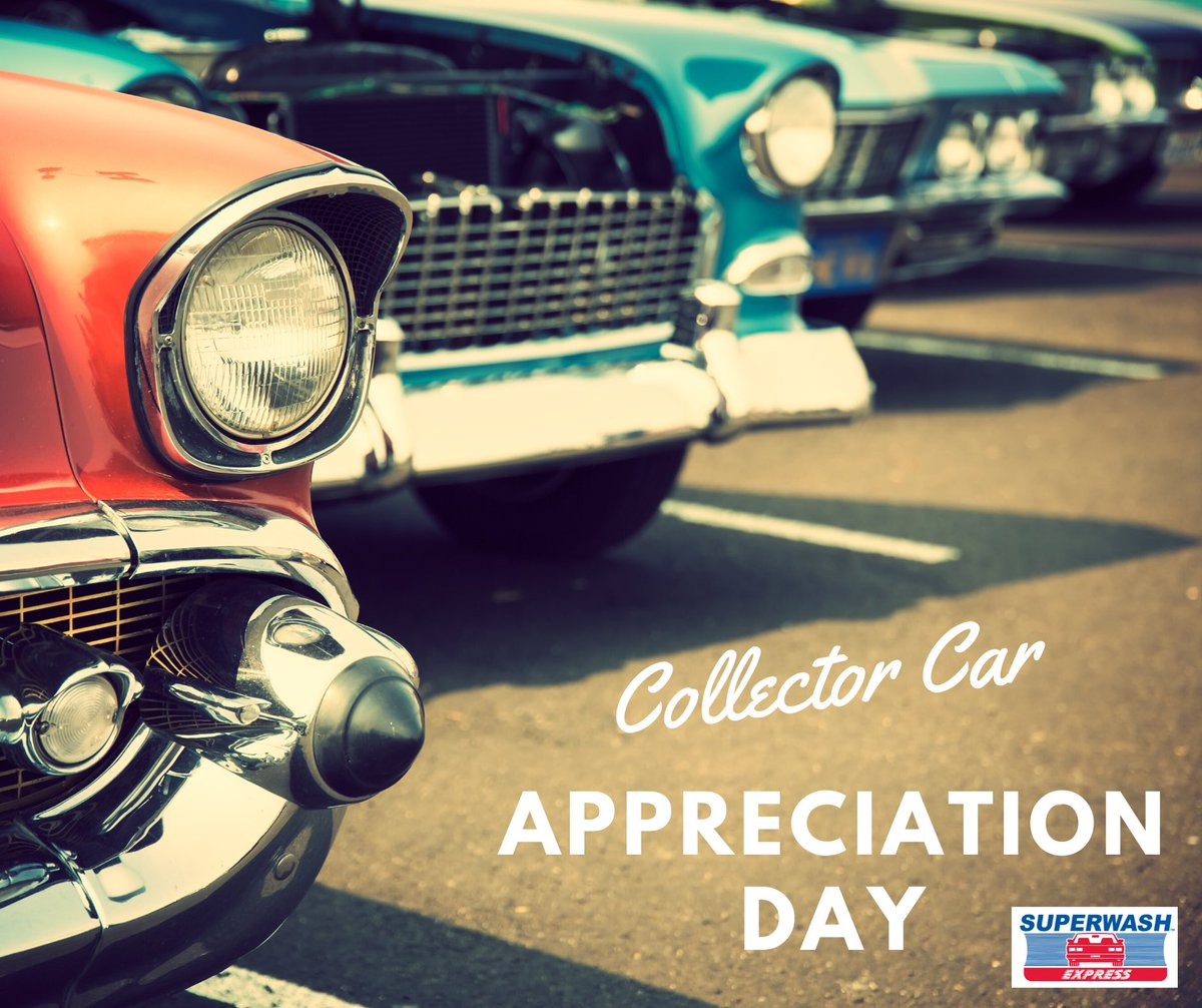 It's National Collector Car appreciation day! Do you have a collectible? Show us in the comments! #CleanCar #HappyCar #SuperwashExpresspic.twitter.com/dFvmtdC6gh