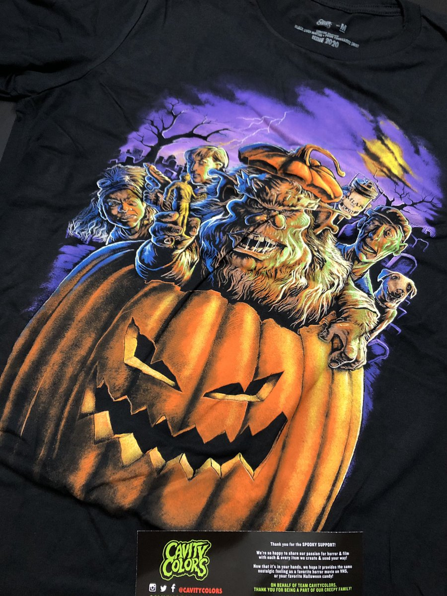 I absolutely love this Ernest Scared Stupid shirt from @CAVITYCOLORS that just arrived. One of my favorite Halloween 🎃 movies. #cavitycolors
