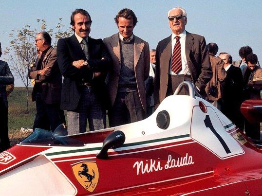#FormulaOneFriday 👌  #Ferrari 🇮🇹 312 T2 #ClayRegazzoni #NikiLauda #EnzoFerrari https://t.co/s1jcorKrXc
