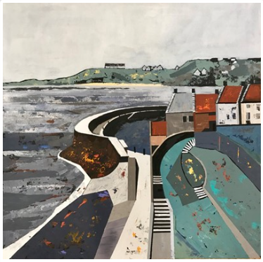 Judith Appleby, 'Crail Harbour'  Acrylic  #acrylicpainting #contemporaryartist #contemporarypainting #paintings #painting #artpic.twitter.com/G6QGnJQu1h