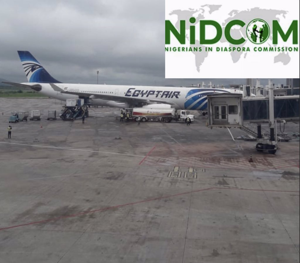 BREAKING NEWS. EVACUATION UPDATE.  @EGYPTAIR conveying 270 Stranded Nigerians arrive Nnamdi Azikiwe International Airport, Abuja at exactly 2:30 pm local time today 10th of July, 2020. 1/2 https://t.co/lwx9far3jP