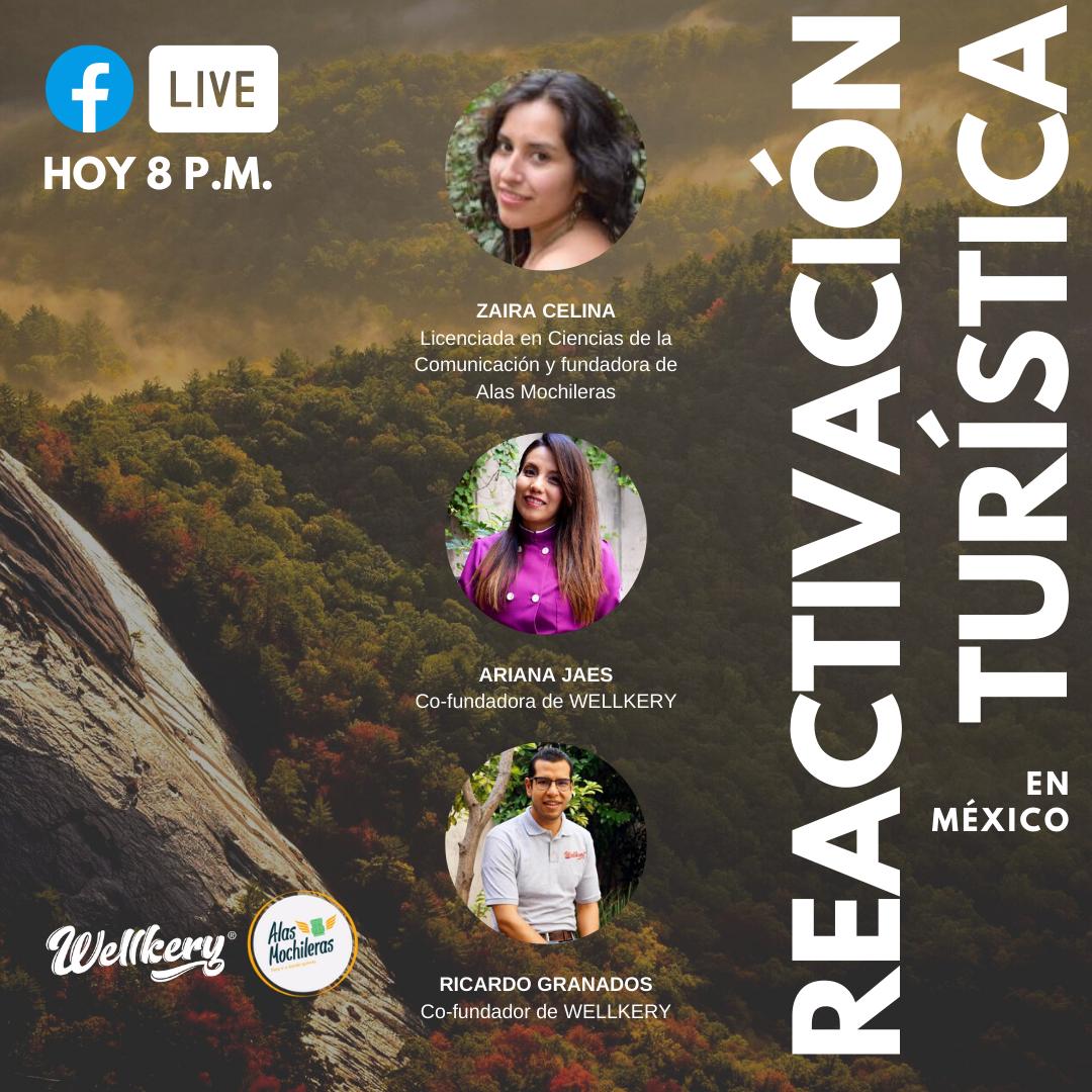 Te recordamos que en punto de las 8 P.M. por las páginas de Facebook de @wellkerymx y Alas Mochileras podrás observar nuestra plática.  #Wellkery #AlasMochileras #Viajes #Turísmo #Economía #México #Placer #Evento #Live #FinDeSemana #Vacacionespic.twitter.com/QGZRwV5UV5