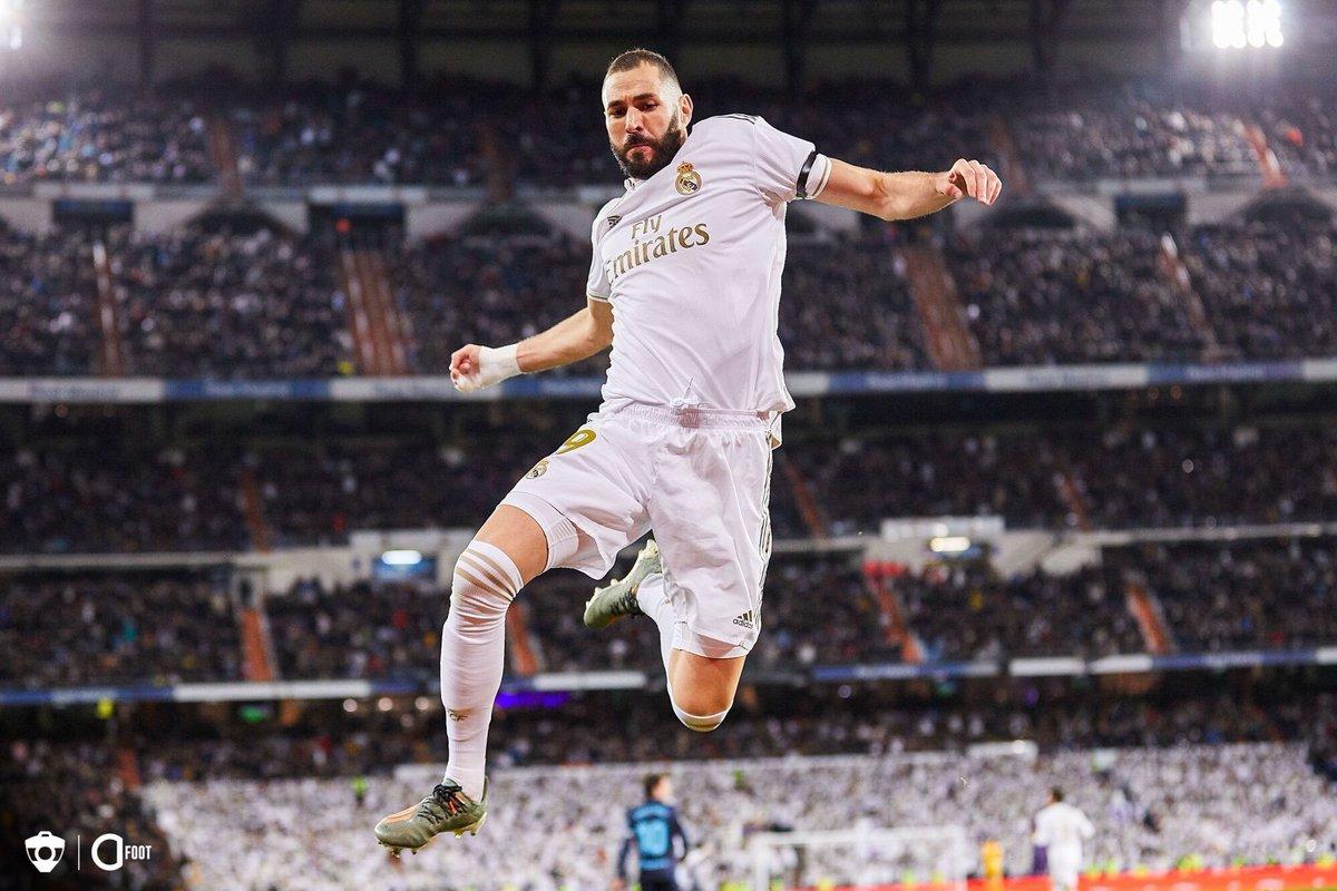 Karim Benzema buteur pour le Real Madrid face à Alaves. 🔥 Le Real mène 1-0.