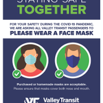 Image for the Tweet beginning: Valley Transit requests that all