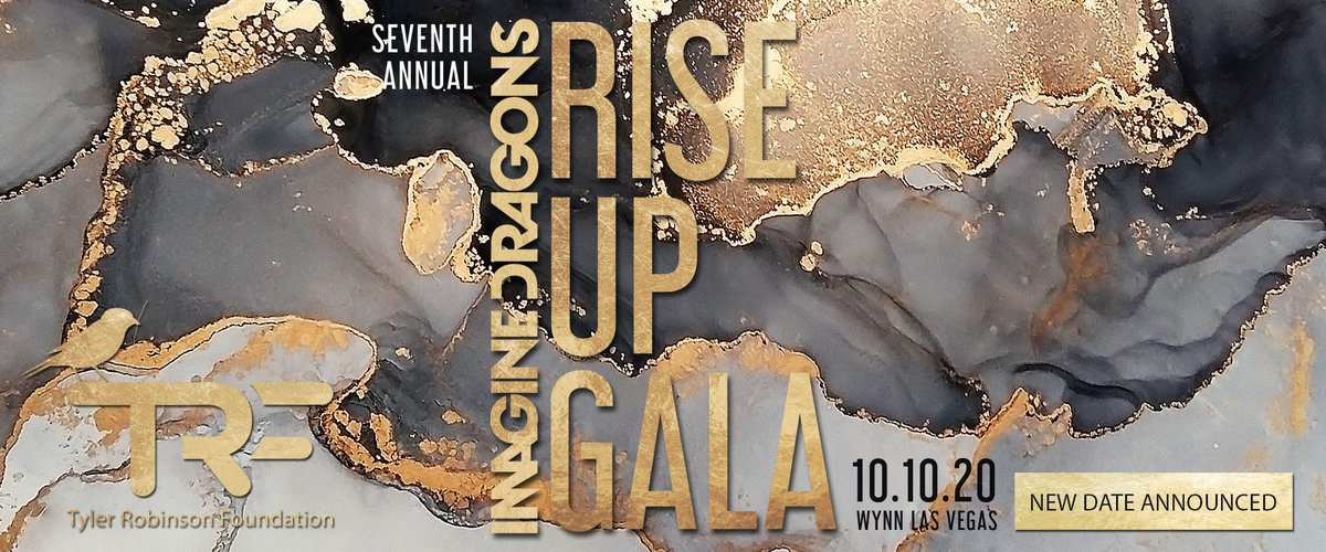 This years @TRFdotORG & @Imaginedragons RISE UP Gala is moving outside! It will now take place on Saturday, 10-10-20 at @WynnLasVegas Outdoor Pavilion. For more information, please visit trf.org or contact kim@trf.org. #slaycancerwithdragons