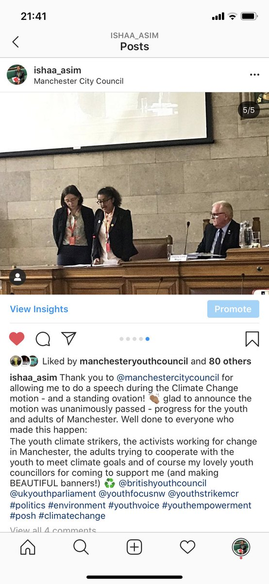 Today marks a year since @ManCityCouncil asked me to speak on the motion of declaring a climate emergency in Manchester. This was an excellent step towards progress and below you can see Climate supporters 💚 We need to keep this up and be carbon neutral by 2038! #ClimateChange