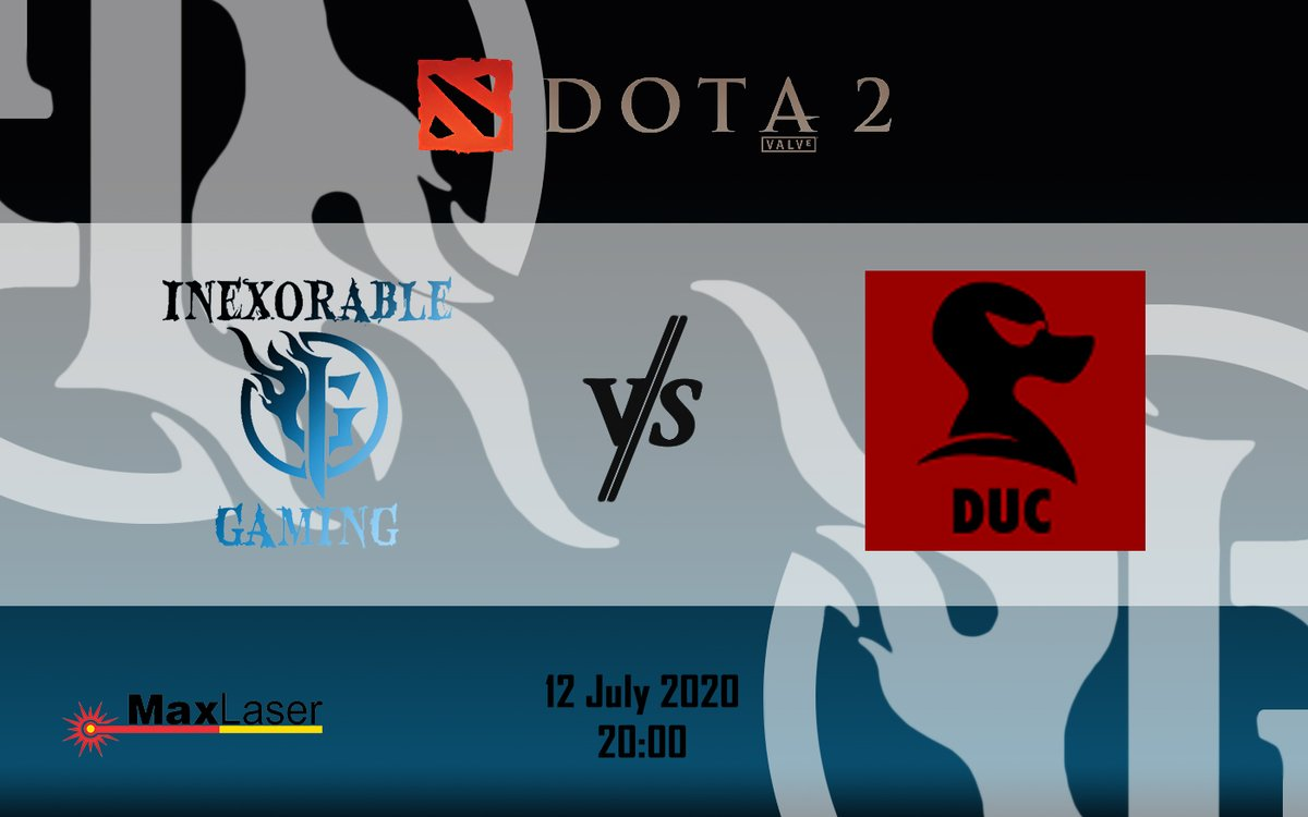 12 July,  Inexorable Gaming is battling it out against DUC in a Dota 2 DGL match. Good Luck guys and Have Fun! #inexorablegaming #dota2 #dgl #upcomingmatch #glhf #mgo #dglmatch #gaming #MaxLaserpic.twitter.com/sEua0dEZu3