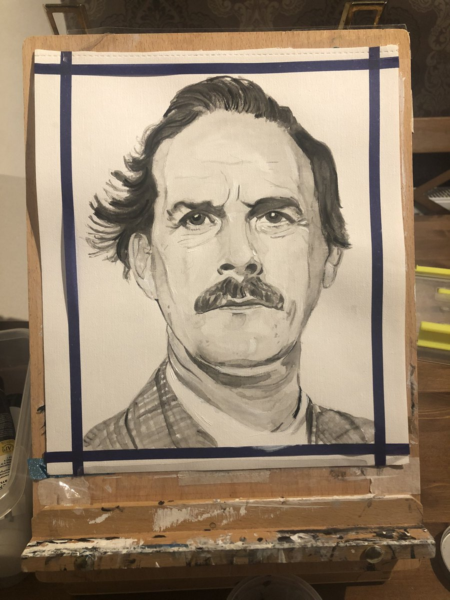 #basilfawlty #fawltytowers #johncleese #portrait #acrylicpainting #art #artshare #artwork #blackandwhiteart pic.twitter.com/SYBgToBmZw
