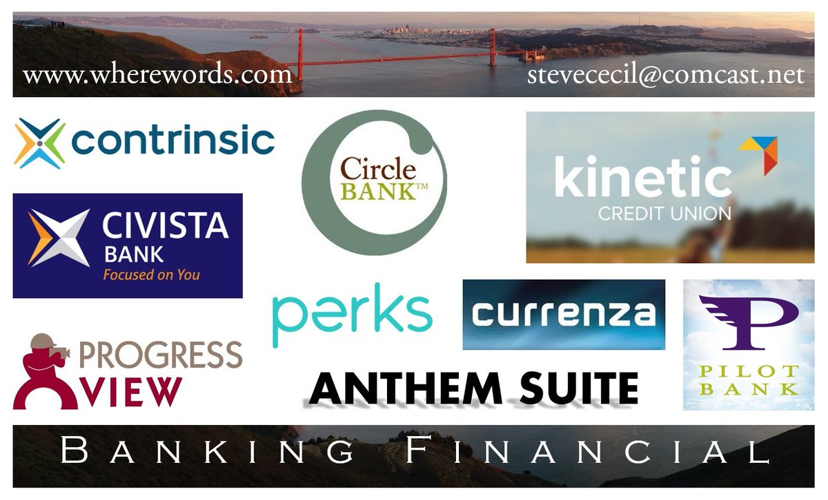 Proprietary naming for pecuniary branding. CEOs & CMOs in banking & finance rely on WhereWords for product names & corporate identities. #naming #branding #trademarks #sowenamedit #Contrinsic #Civista #ProgressView #CircleBank #PurchPerks #Anthem @KineticCU #Currenza #PilotBank