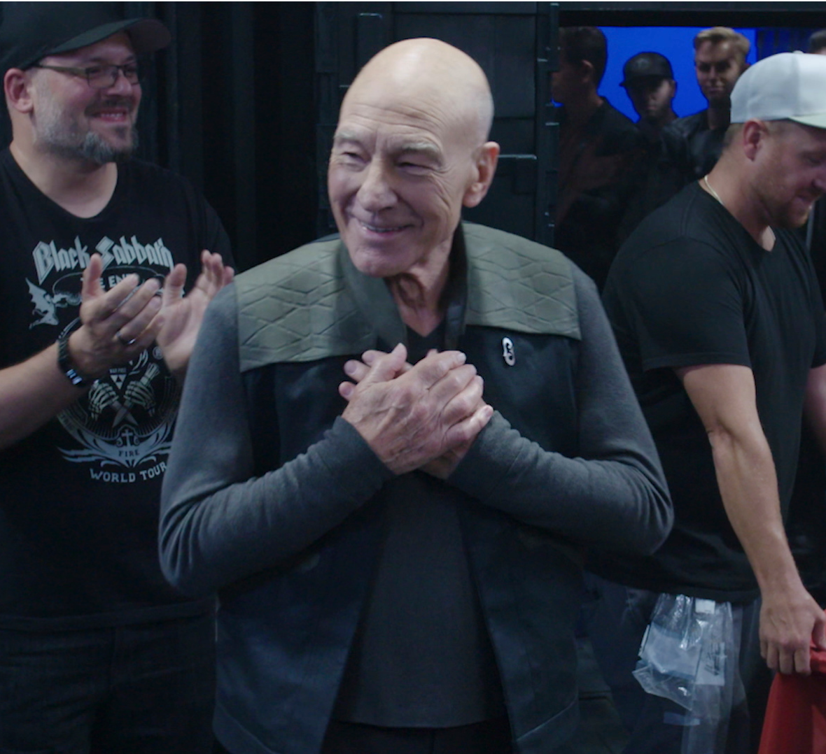 Happy 80th Birthday @SirPatStew!  Check out this video from his birthday celebration on the set of #StarTrekPicard last year and reply with your favorite Picard GIF to help him celebrate! #StarTrekFamily
