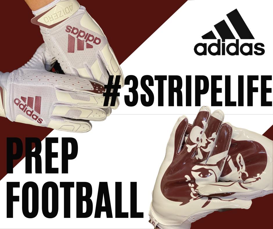 Custom Adidas Football Gloves for @SPPFootball @SPPAthletics #3stripelife #adidasfootball #highschoolfootball #footballreturns https://t.co/m8rJAOs63q