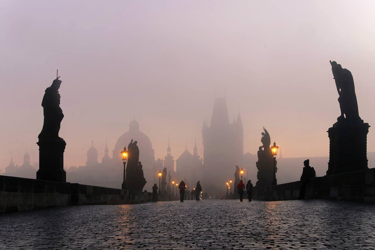 Charles bridge at dawn #Prague #Czechia