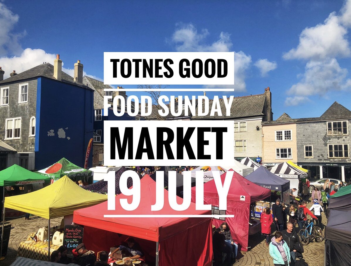 Good news! We'll be back in the Market Square on Sunday 19 July! @Torbay_Hour @VisitDevon @visittotnes #totnes #totnesgoodfood https://t.co/7syPz718As
