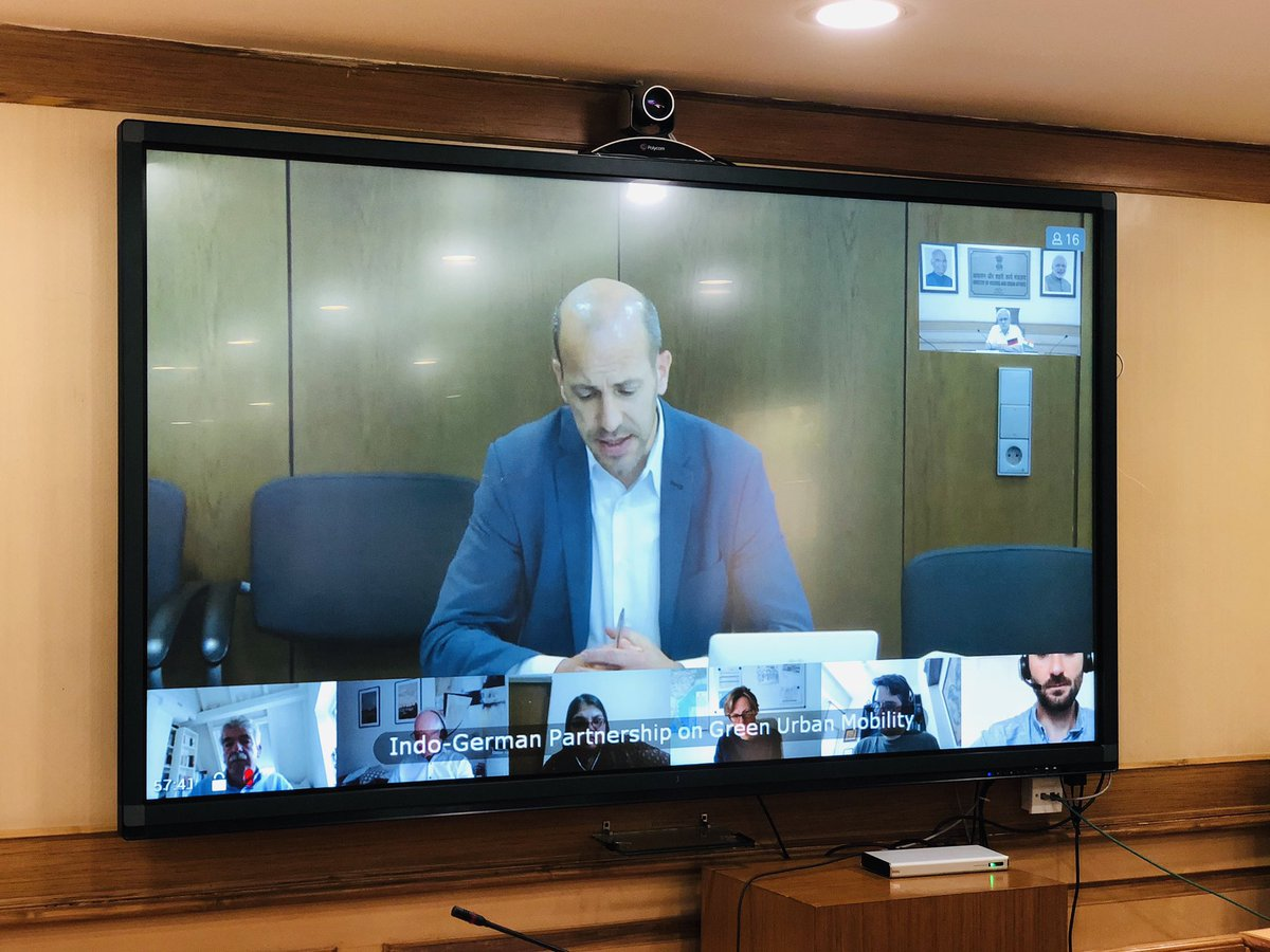 India & Germany are strategic partners & benefit from bilateral mutual cooperation in several schemes of the Ministry.  We continued our discussions on urban sector cooperation through a webinar on 'Indo-German Partnership on Green Urban Mobility' today. https://t.co/GrJLB2wyHu