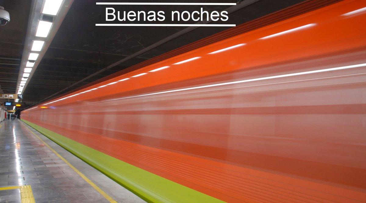 Gracias por viajar en Metro. Concluimos el servicio. ¡Buenas noches! https://t.co/12wHDbkdDz