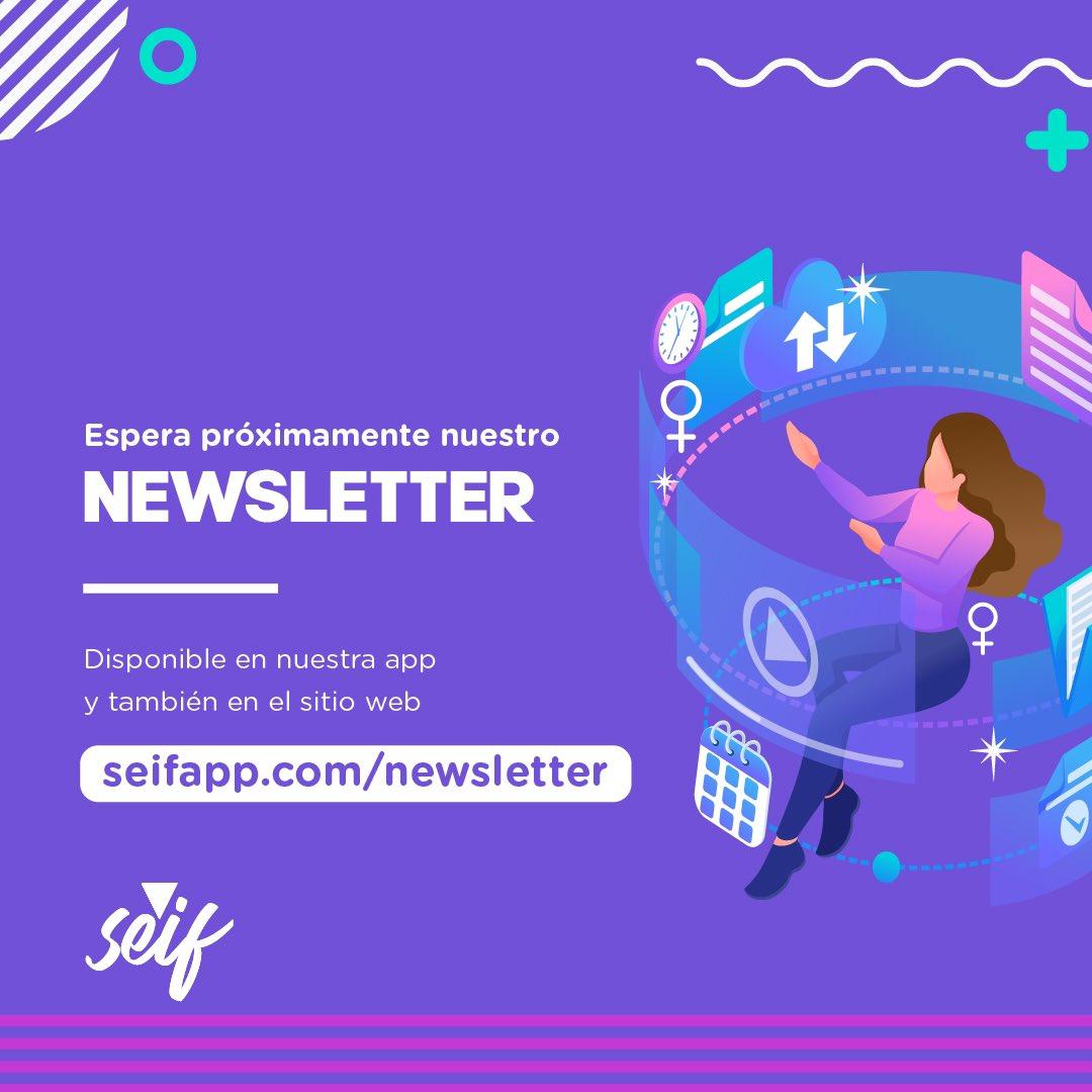 Good News! Próximamente lanzaremos nuestro newsletter Seif, en el cual podrás leer y aprender sobre los temas que te interesan, conocer sobre el feminismo y muchas cosas más.  Suscríbete en https://t.co/yqf57G6AfN  #Seif #MeQuieroSeif #Newsletter #Feminista #FemalePower #Feminist https://t.co/igqa8elP96