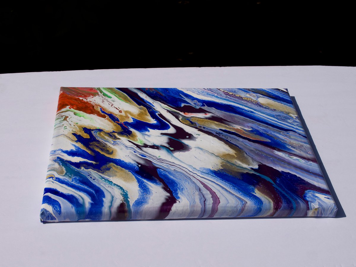 """Diagonals"" fluid acrylic + close ups #artforsale#originalartworks #fluidacrylics #liquidartlab #abstractpainting#asf_artists #abstracted #abstract#nonrepresentational#carolroullardart #smallart #pourpaintingsbyme #abstract_daily #artoftheday#art_spotlight#art_dailypic.twitter.com/57gcBGhAzZ"