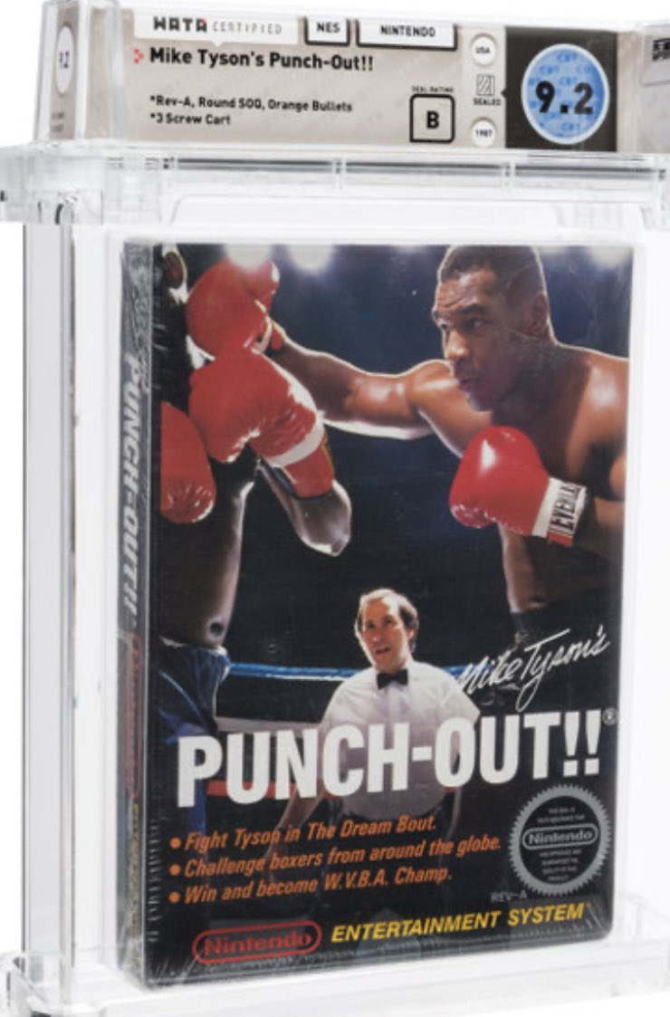 In video game auction by @HeritageAuction on Friday, sealed, highly graded copies of Mike Tyson's Punch-Out and Super Mario Bros. sold for $49,200 and $114,000, respectively. https://t.co/vWJKN3tbko