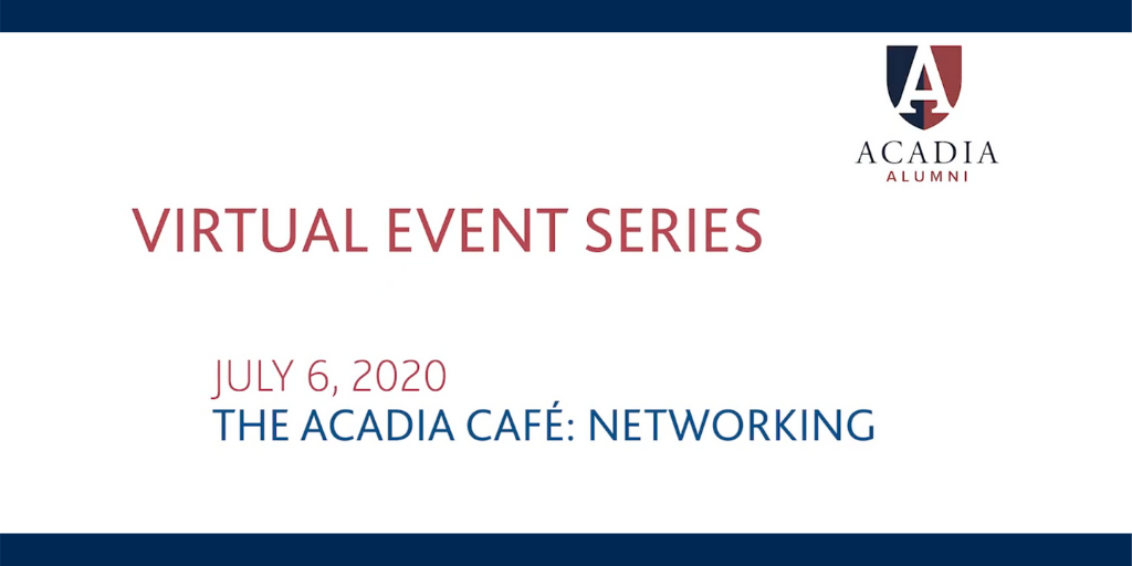 What's the best way to start a conversation when you have been paired with a mentor/mentee? What's the difference between networking and mentoring?   If you missed Monday's Virtual Event live, you can watch it here: https://t.co/qFUjurcmWs  #AcadiaU #TheAcadiaCafe @10kcoffees https://t.co/UrxUGkpx12