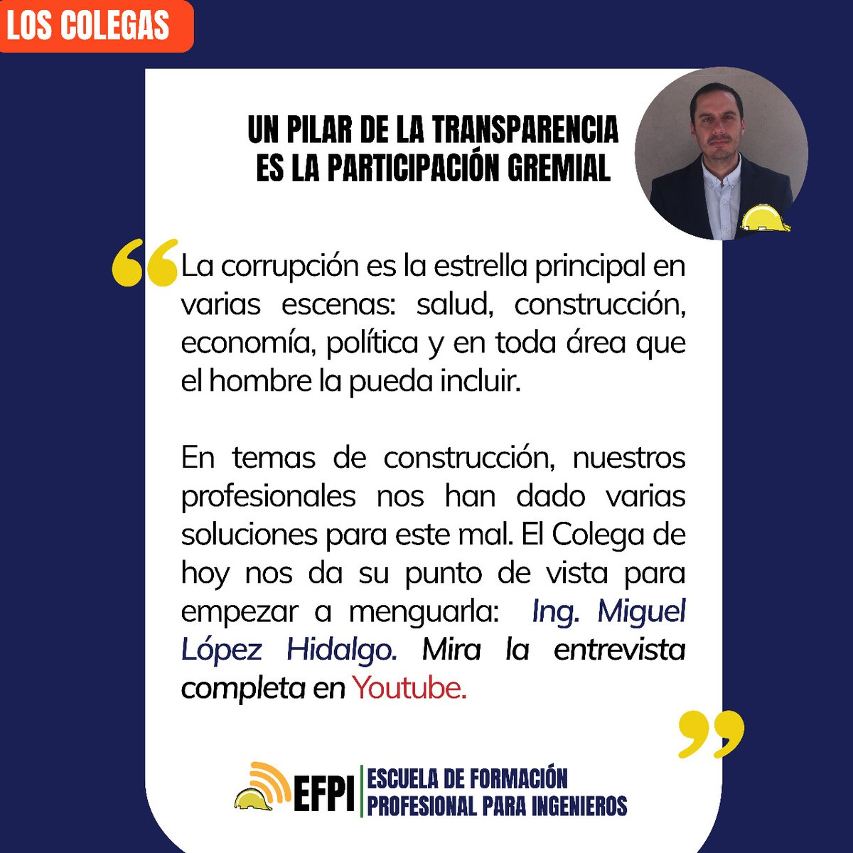 El @cica_azuay presenta su espacio #LosColegas. Esta semana nos acompaña el Ing. Miguel López, Decano de la Facultad de Ciencia y Tecnología de la @uazuay quien aporta datos importantes para el sector.  Mira la entrevista completa en #Youtube: https://t.co/bSxP1fneoU