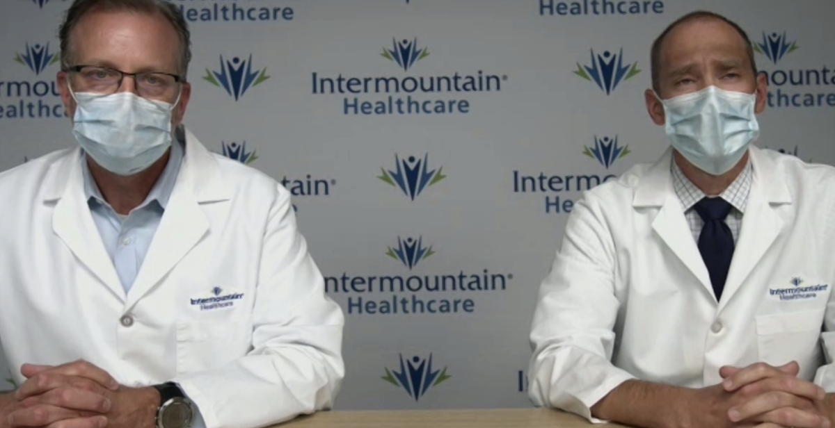"""""""We are deeply concerned about the current trajectory of COVID-19 cases rising in UT. We are currently seeing a large spike in the people testing positive for the virus. Hospitalizations are also increasing."""" -@MarkBriesacher #IMTNLive #IMTNCovid19 https://t.co/2eJ7a1dcds"""