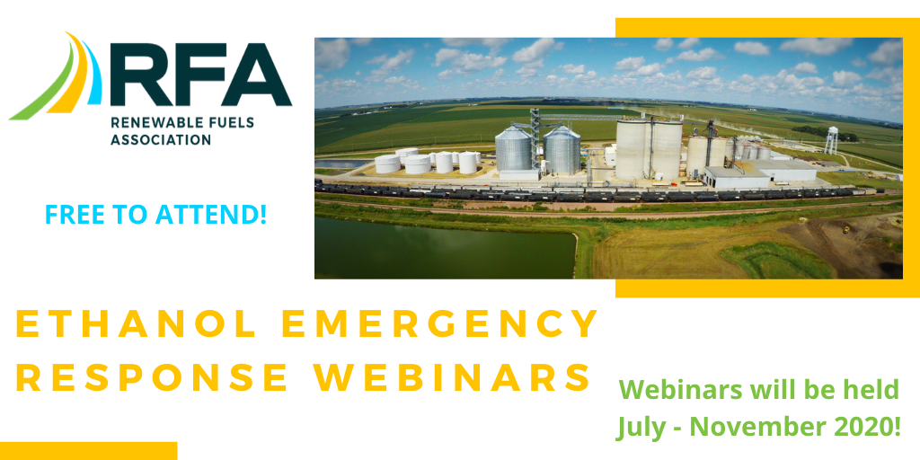 NEW & FREE - Ethanol Emergency Response Webinars! These webinars are hosted by @EthanolRFA and will be held July - November 2020! Register today at https://t.co/vZjTrwa7Jz. https://t.co/KKyf3D29kX