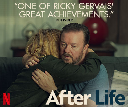 Who better than @RickyGervais to show us #death with a sense of #comedy in #Afterlife on @Netflix. Get this man another #Emmy plz.