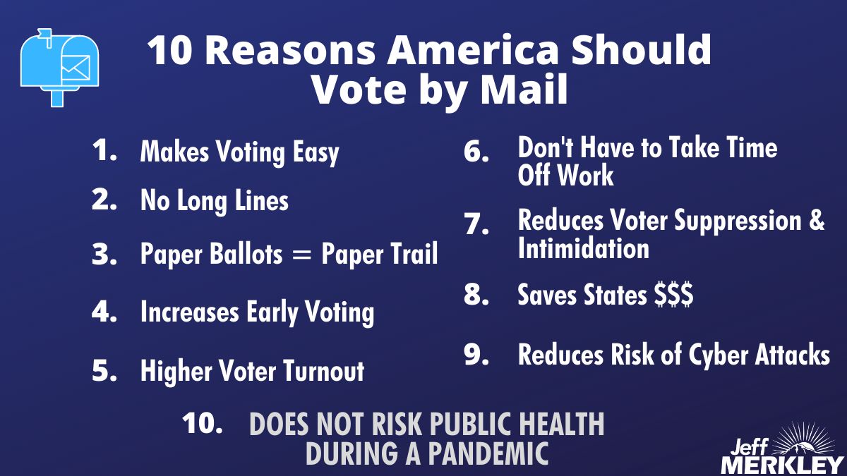 Vote by mail is easy, safe and secure. Pass it on. https://t.co/QAANFjS0d6