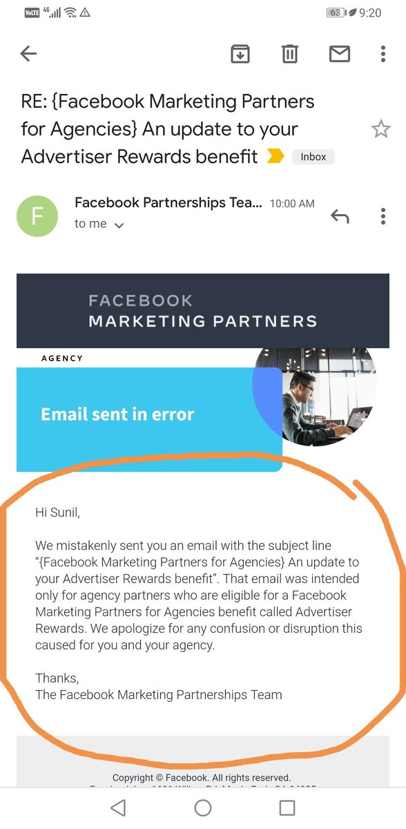 Facebook advertiser reward benefits email sent by mistake! Seriously, now make this happen #Facebook #FacebookFail https://t.co/T8lDMUVQHI