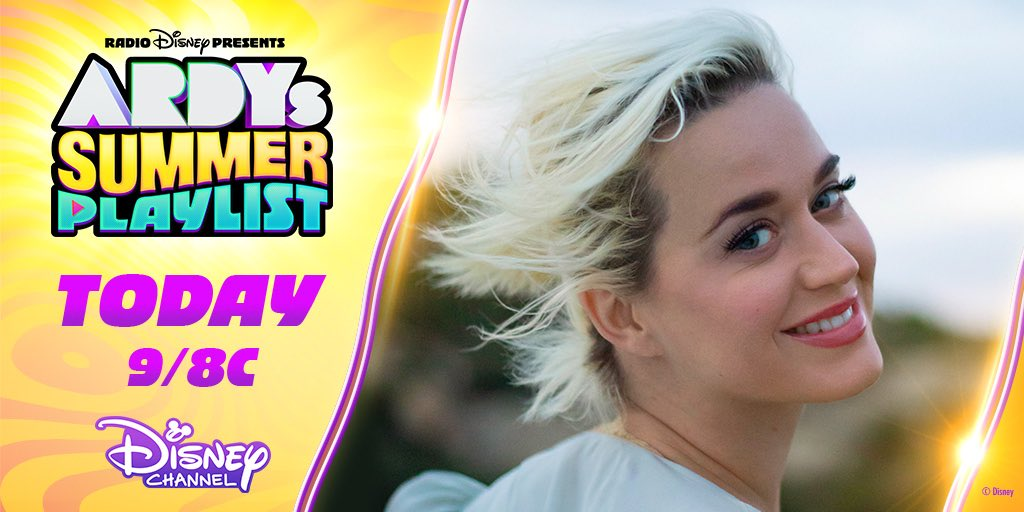 Catch @radiodisney Presents #ARDYs Summer Playlist tonight with #AmericanIdol's @KatyPerry and #AmericanHousewife's @ImMegDonnelly! It's part of @DisneyChannel's biggest night of music! https://t.co/tVcePStCLD