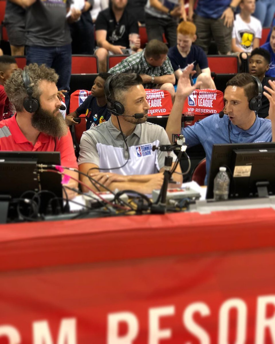 Two years ago, I got to call an NBA Summer League game with a few of my best friends. So much fun. @NoDunksInc