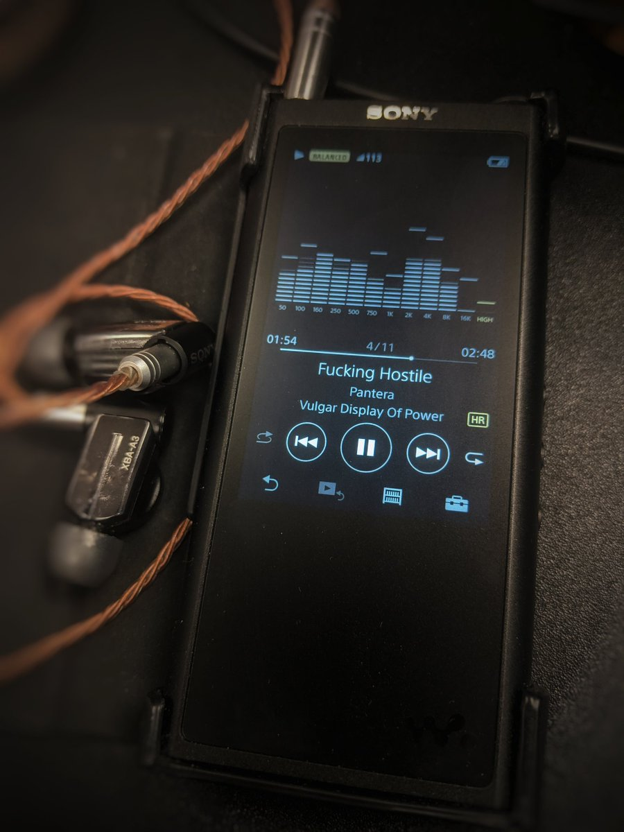 Friday work mood w/my @SonyElectronics NW-ZX300a and XBA-A3... @Sony @sonymusic @sonyuk @SonyMusicSouth @sonymusicindia @SonyMusicSpain @sonymusicsg @SonyMusicAU #sony #WALKMAN #audiophile #pantera #hires #musicpic.twitter.com/bqEHvp6sws