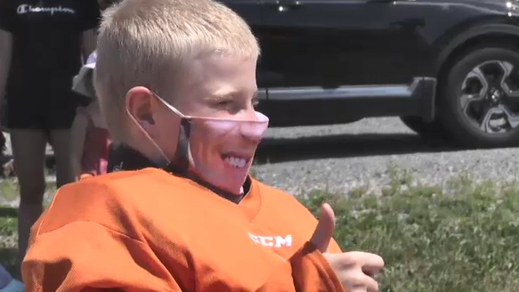 NHL star surprises young Ont. cancer patient and inspires new face mask fundraiser