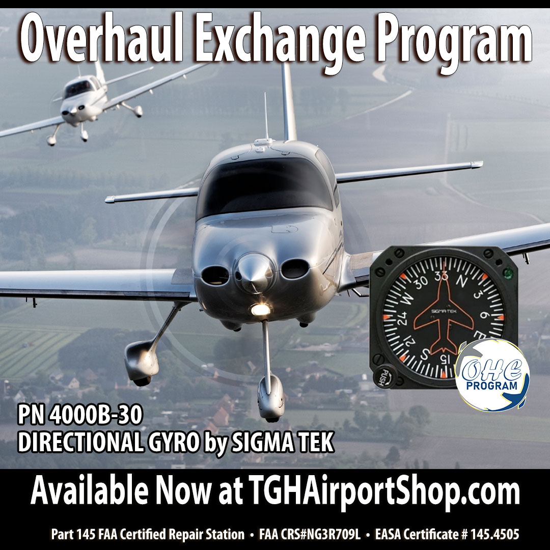 Order your next #DirectionalGyro from TGH Aviation. Part Number 4000B-30 is featured in our extensive Overhaul Exchange Program. Check out our entire inventory with pricing here: https://t.co/l3jMBfOpPv #aircraftmaintenance #apmechanic #flightschool #fleet #supply https://t.co/loeRkIHV27