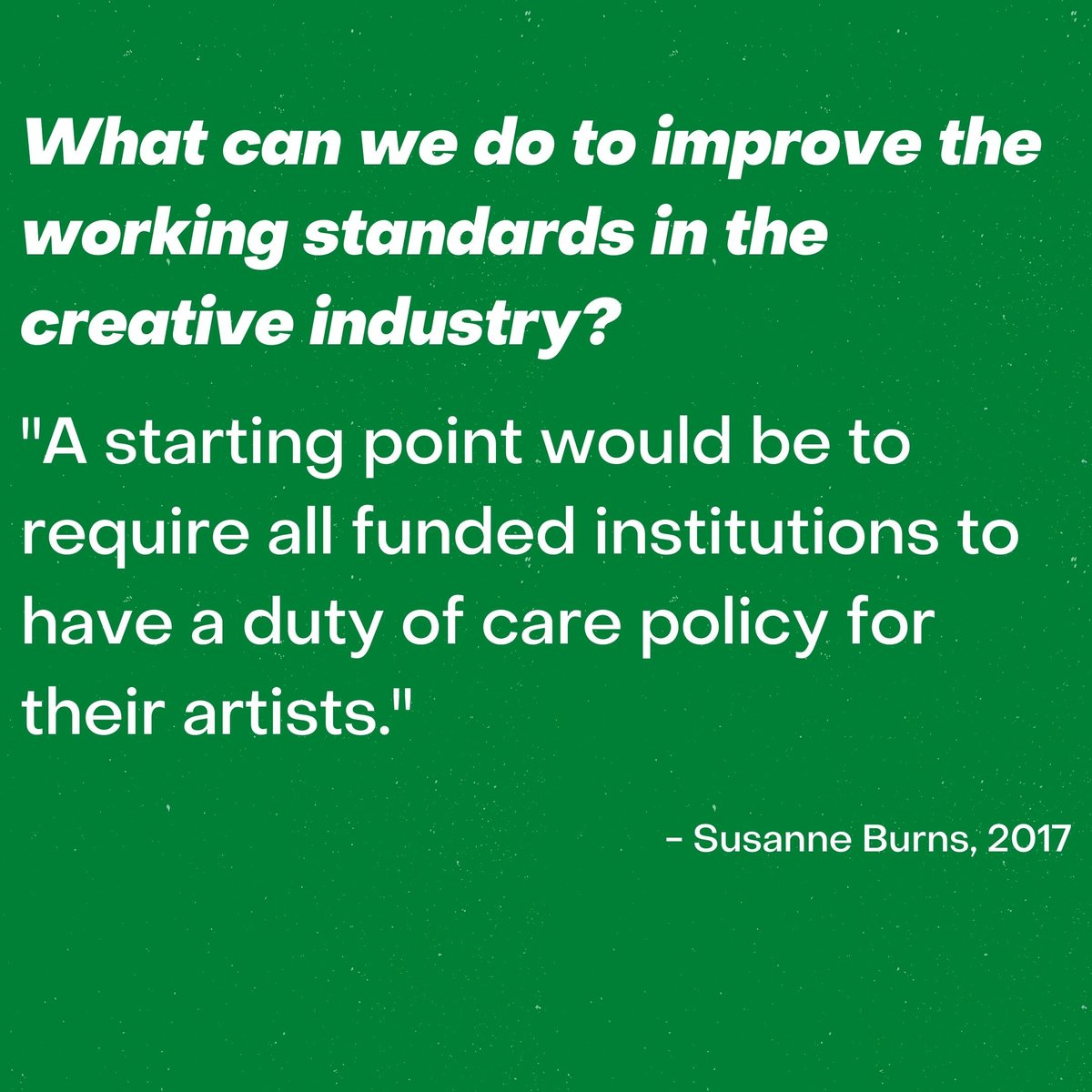 When we started this movement one of our suggestions was to ensure that event producers are DBS checked and/or trained in safeguarding. Policies like this would create a safer working environment for artists and staff, and this is exactly what we need!pic.twitter.com/b5mTs7QO9N