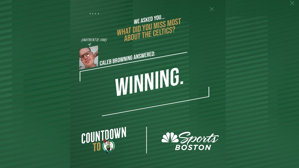 We asked & our Authentic Fans answered. Only 21 more days of missing the Celtics! Catch our next Q&A on Monday and leave a comment that could be featured as part of the next #AuthenticFan Friday! #CountdownToCeltics https://t.co/dyo7Dm52I0