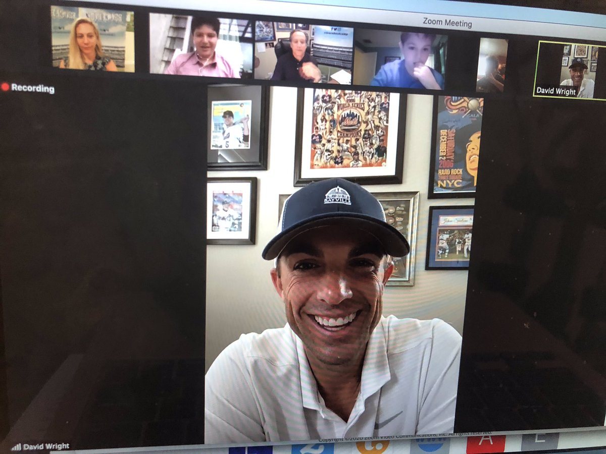 """Fantastic to have """"Captain America,"""" David Wright as our surprise guest today on our last day of @brucebeckcamp ! The former @mets Captain gave this advice to our future sports broadcasters- """"the key is how badly do you want something & how badly are you willing to work for it!"""" https://t.co/kubHYoVAC5"""