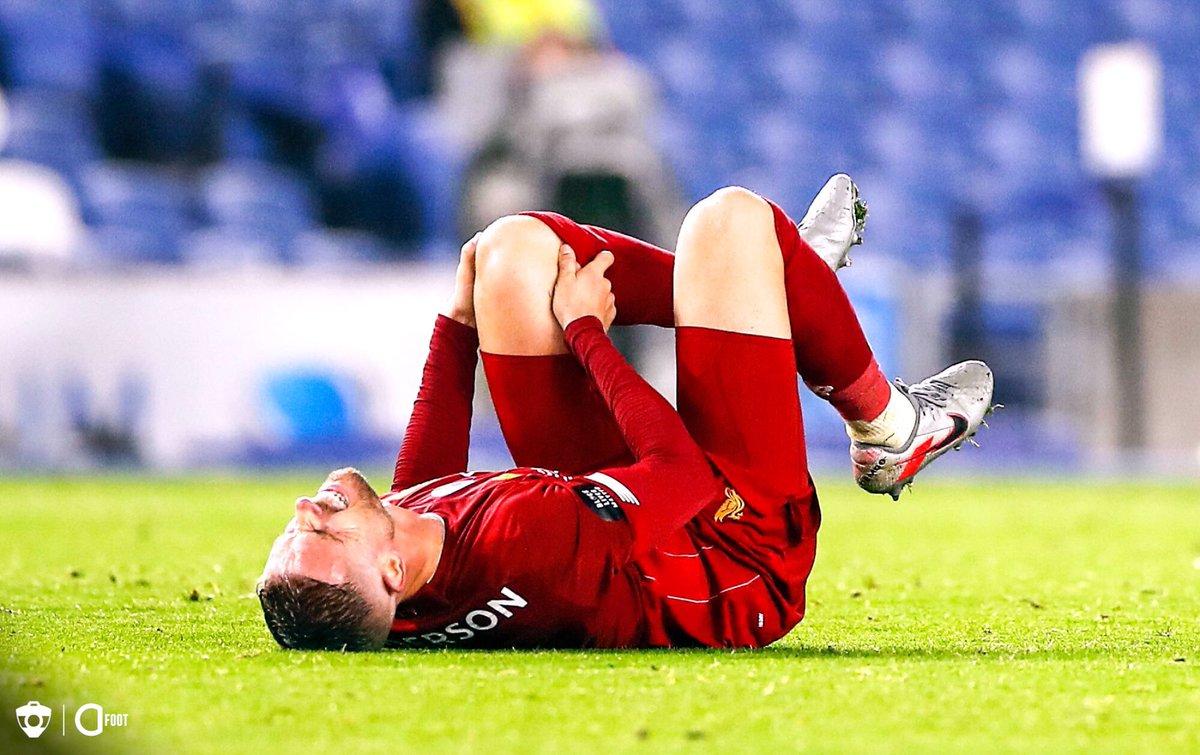 🔴 OFFICIEL ! Jordan Henderson est forfait jusqu'à la fin de la saison. Le capitaine des Reds soulèvera quand même le trophée de Premier League même s'il ne peut plus jouer, a annoncé le Jürgen Klopp.