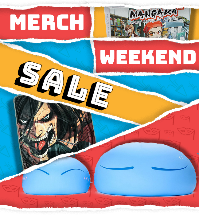 We have you at our Merch-y Weekend Sale! 💪 Submit to our deals! 💪 Check out our selection 👉 rsani.me/fhn-4 #ShopNow #WeekendSale #MerchSale #Anime #BirthdaySale