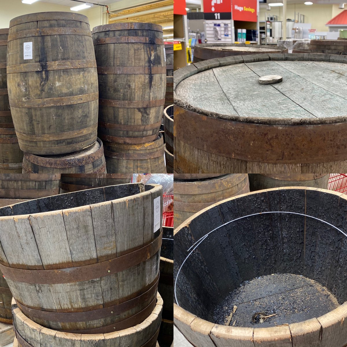 Canadian Whisky Barrels At #LowerSackville #Dartmouth and #Enfield stores. Full size: $124.99 (plus tax) Planter: $74.99 (plus tax) #Payzants #HomeHardware #WhiskyBarrels https://t.co/LyNlHKSGFi
