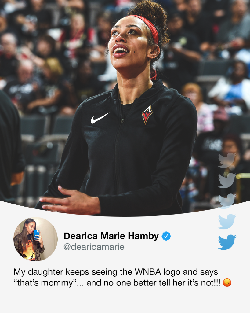 As far as @dearicamarie's daughter is concerned, her mommy is the @WNBA logo 😂